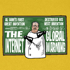 AL GORES FIRST GREAT INVENTION THE INTERNET DESTROYED HIS NEXT INVENTION GLOBAL WARMING
